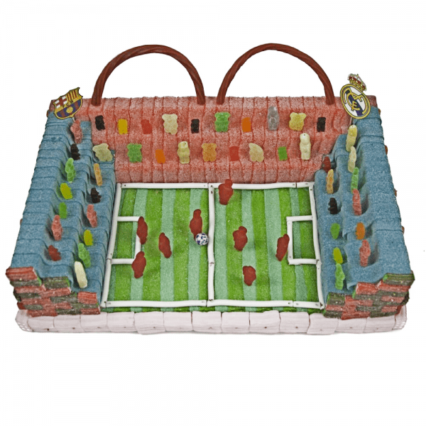 Tarta de Chuches campo de fútbol