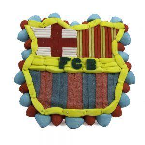 Tarta Barcelona de chuches (escudo)