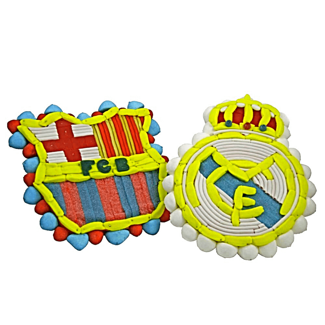 tarta del Real Madrid y Barcelona