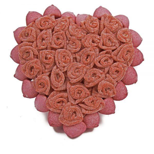 Tarta de Chuches de Corazón de Rosas