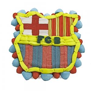 Tarta de chuches del Barcelona (escudo)