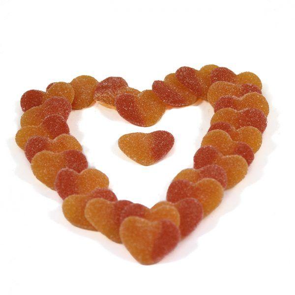 Tarta de gominolas corazones melocotón de Chuches Xiana
