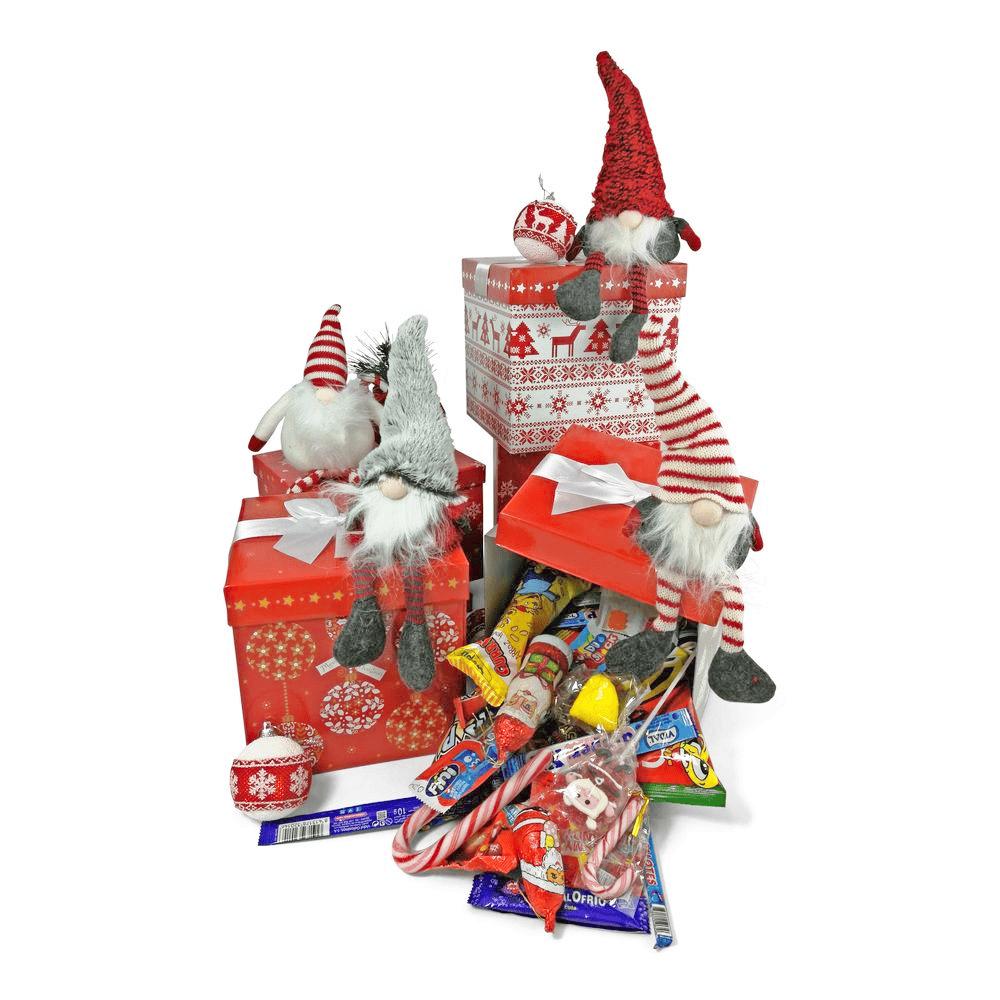 Brochetas figuras de Navidad con chuches