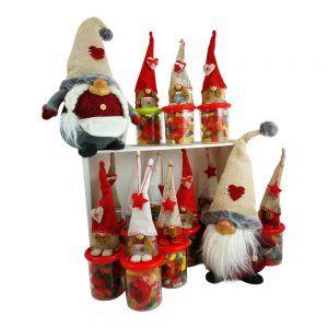 Bote Navidad con gnomo (de chuches)