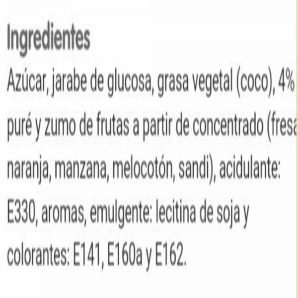 ingredientes sugus
