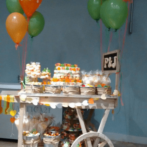 Candy Bar Comunion o Boda con TARTA de chuches