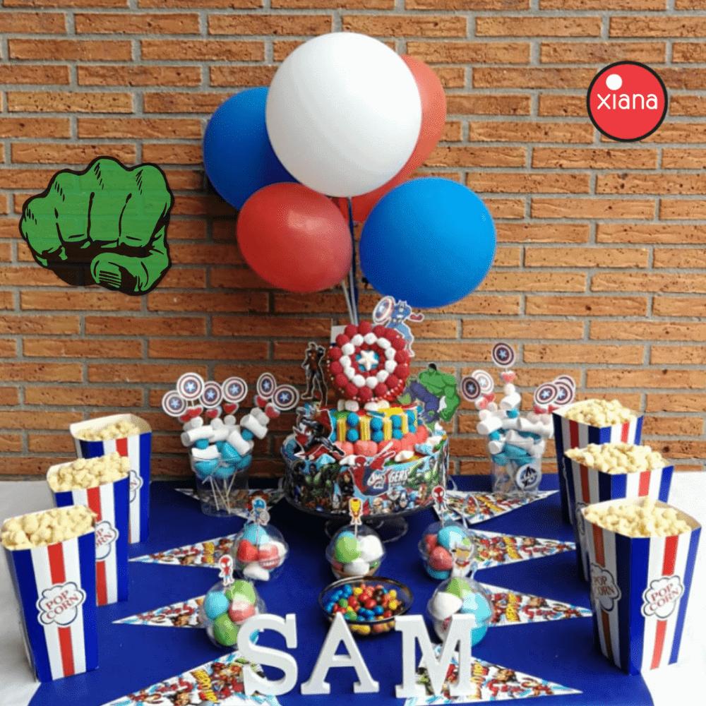 Mesa Dulce Los vengadores Candy Bar Avengers