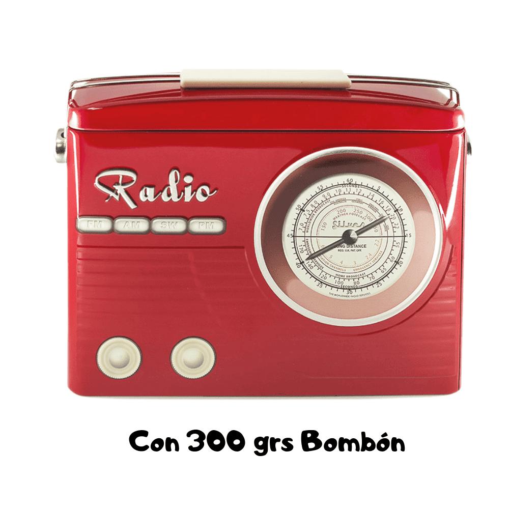 Lata Vintage Radio Roja