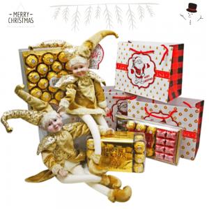 Muñeco elfo amarillo