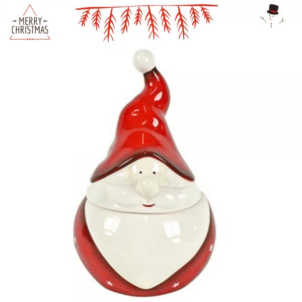 Figura Cerámica Papa Noel