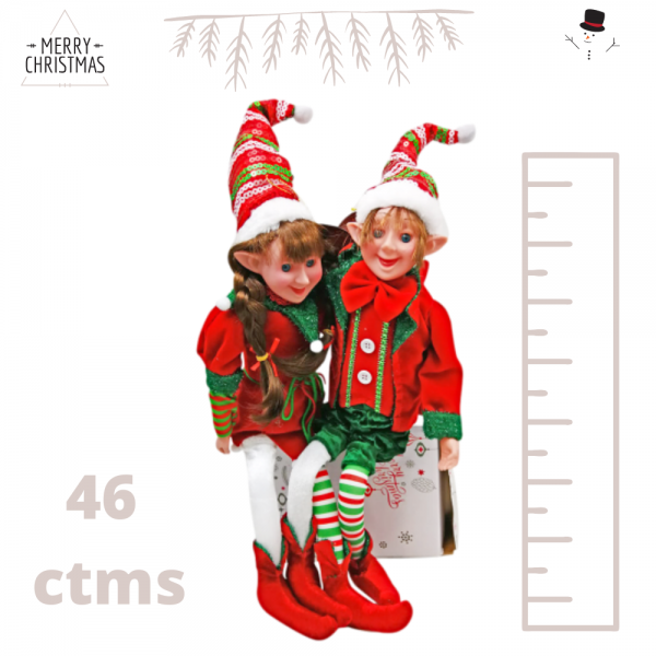 Muñeco Elfo Arlequinado
