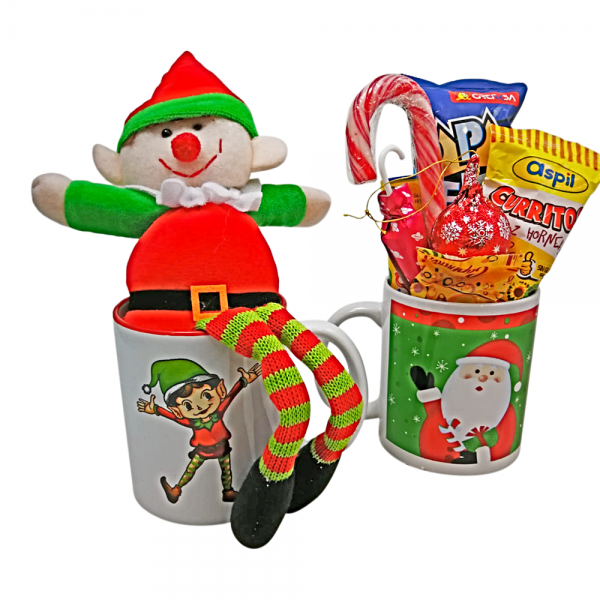 Taza Navidad con Chuches y Elfo