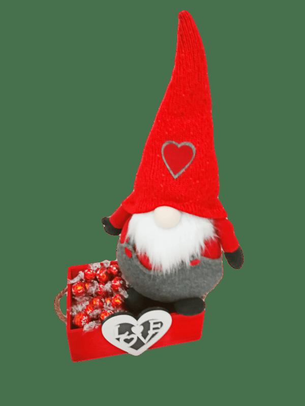 Caja de Bombones y Gnomo San Valentin